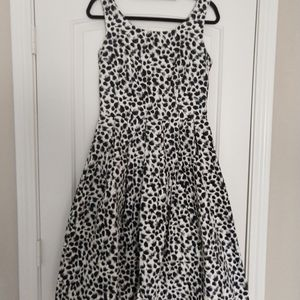 Lindy Bop Black Brush Stroke Print Swing Dress